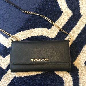 Michael Kors Grain leather chain wallet crossbody